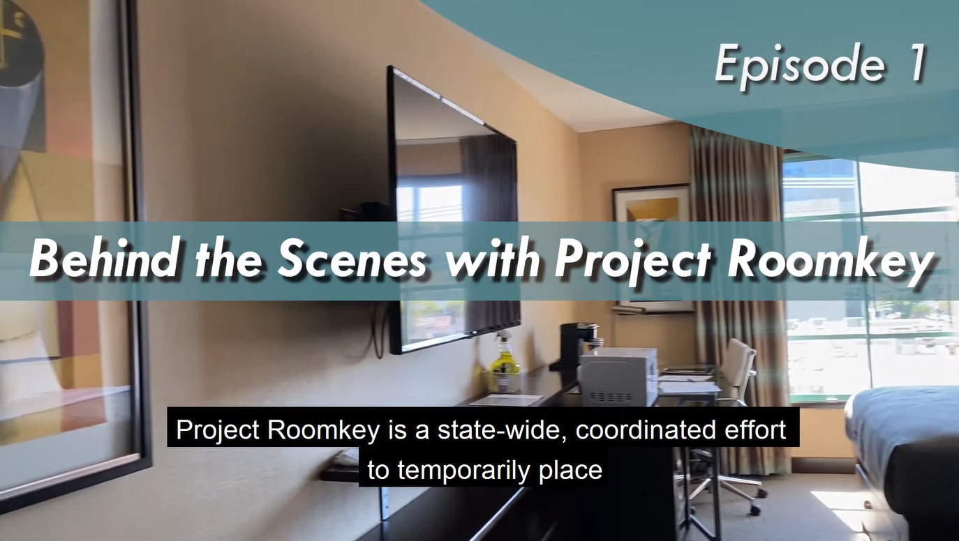 A video screenshot of behind the scenes project roomkey site