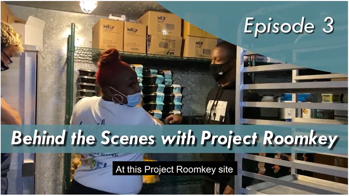 Behind the scenes with Project Roomkey Episode 3